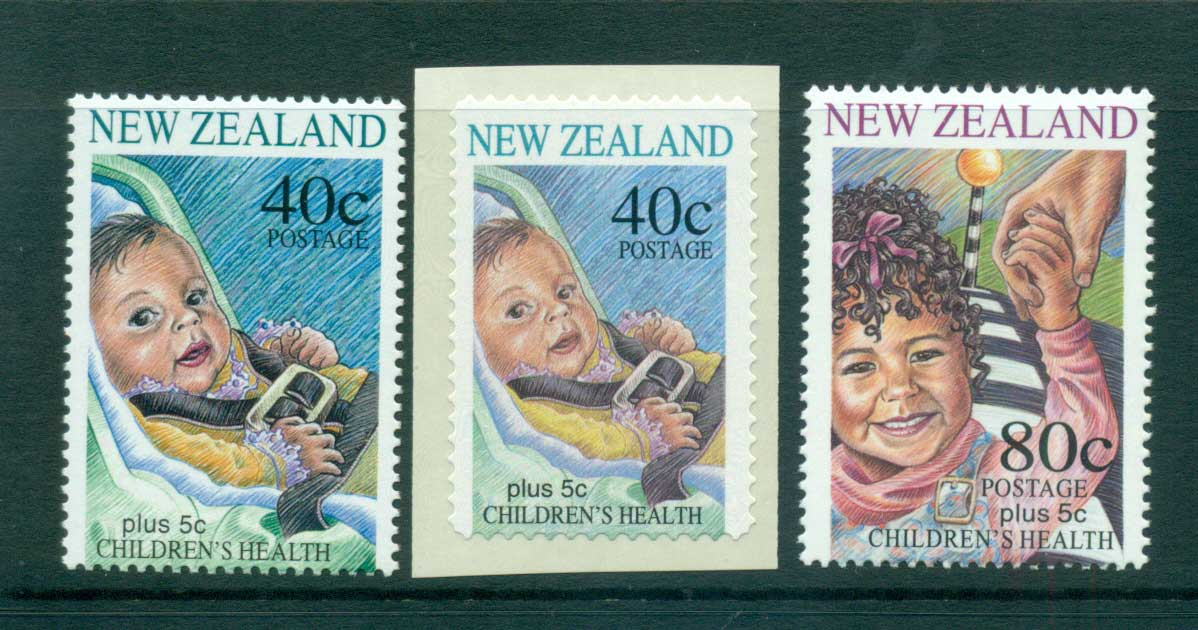 New Zealand 1996 Health Child in car + P&S MUH lot53224