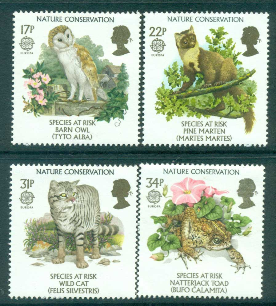 GB 1986 Europa, Species at Risk MLH lot53371
