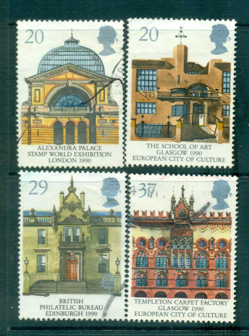 GB 1990 Europa, Stamp World 90, Architecture FU lot53436
