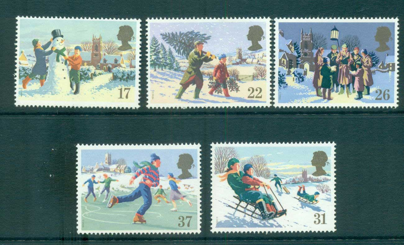 GB 1990 Xmas MLH lot53448