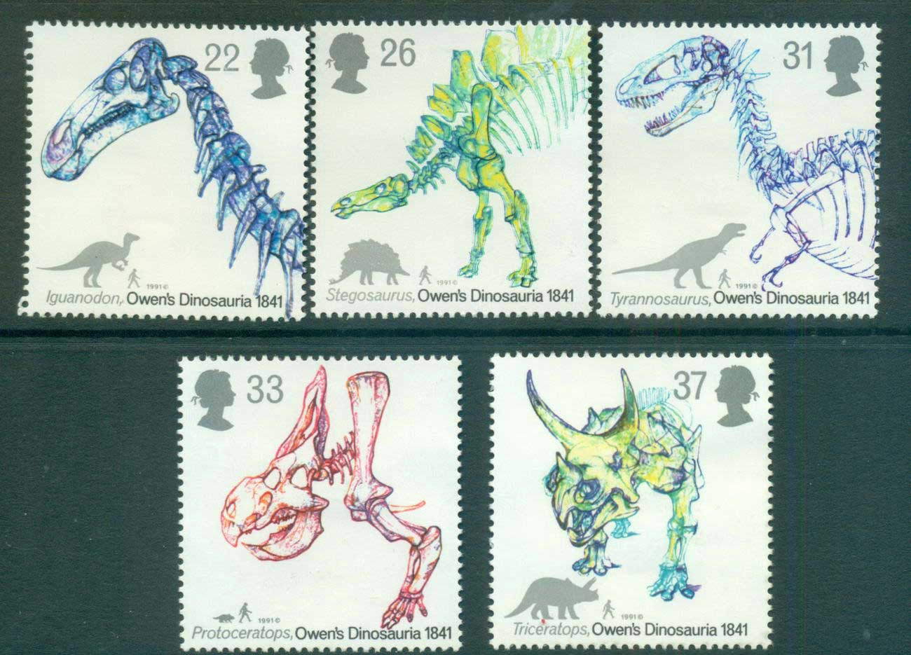 GB 1991 Dinosaurs MLH lot53461