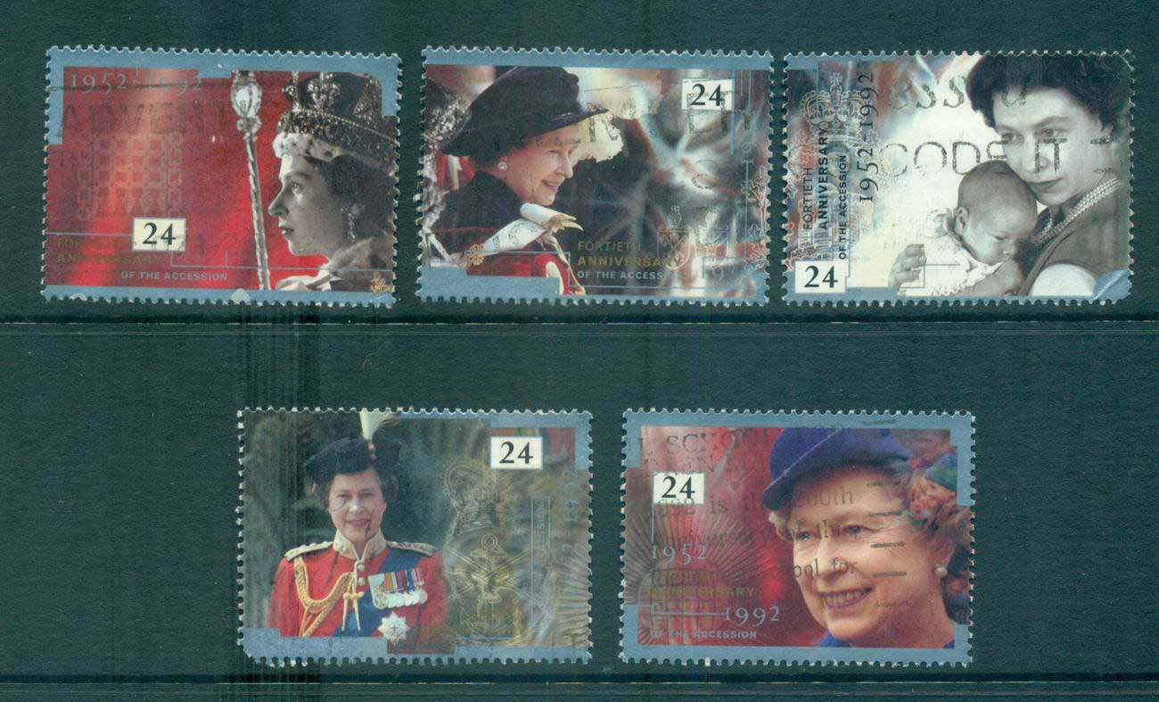 GB 1992 QEII Accession to the Throne FU lot53463