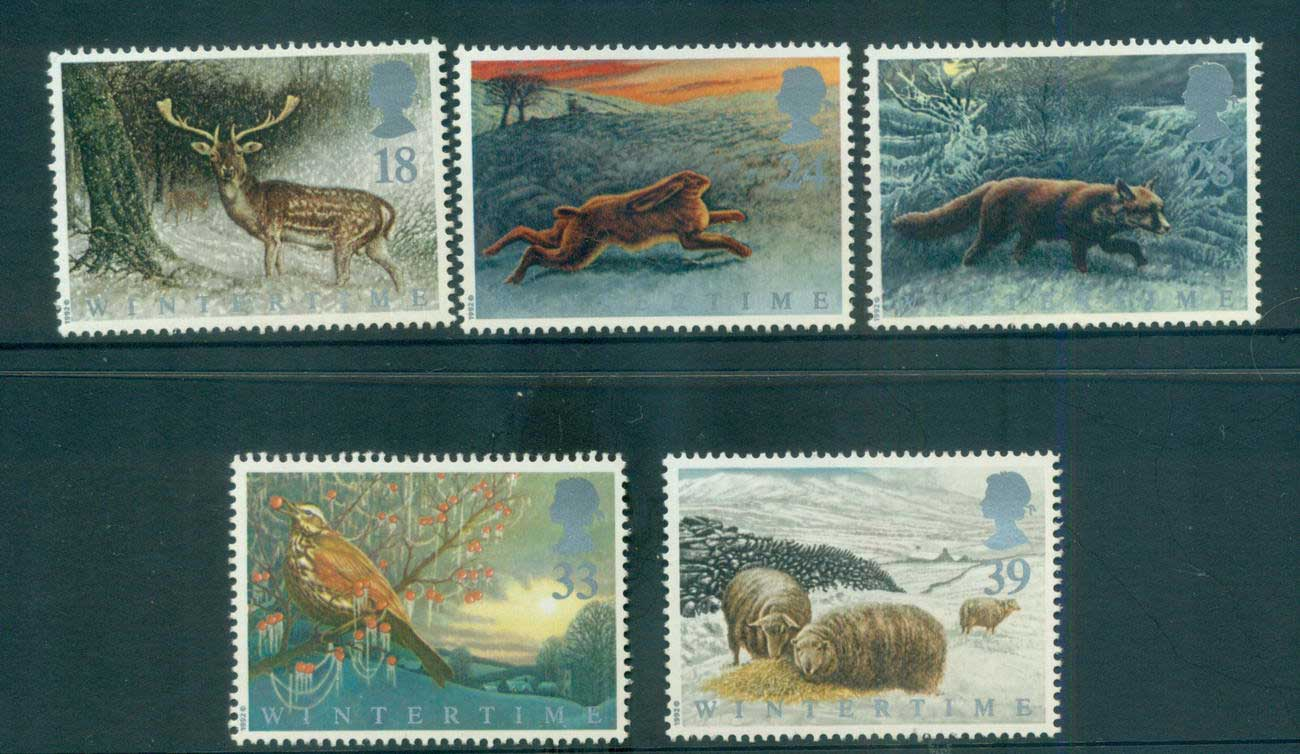 GB 1992 Animals in Winter MLH lot53468