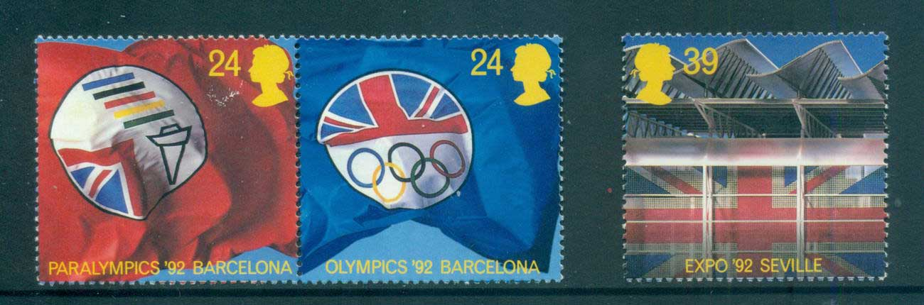 GB 1992 Events, Summer Olympics MLH lot53472
