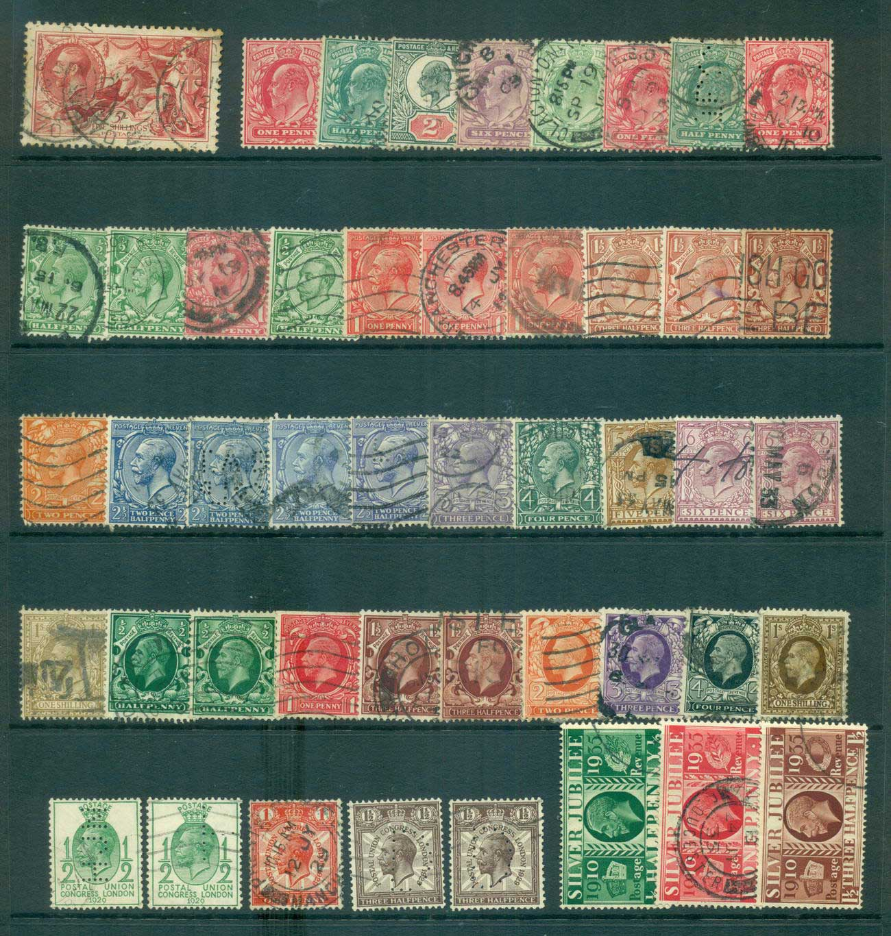 GB 1902 on KEVII & KGV Assorted Oddments FU lot53610