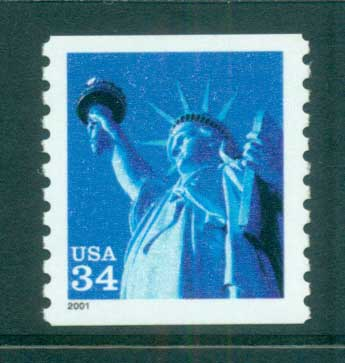 USA 2000 Sc#3452 Statue of Liberty Perf 9.75 MUH lot53656
