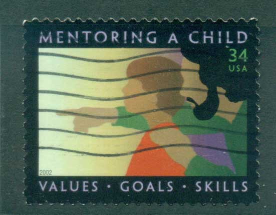 USA 2002 Sc#3556 Mentoring a Child FU lot53823
