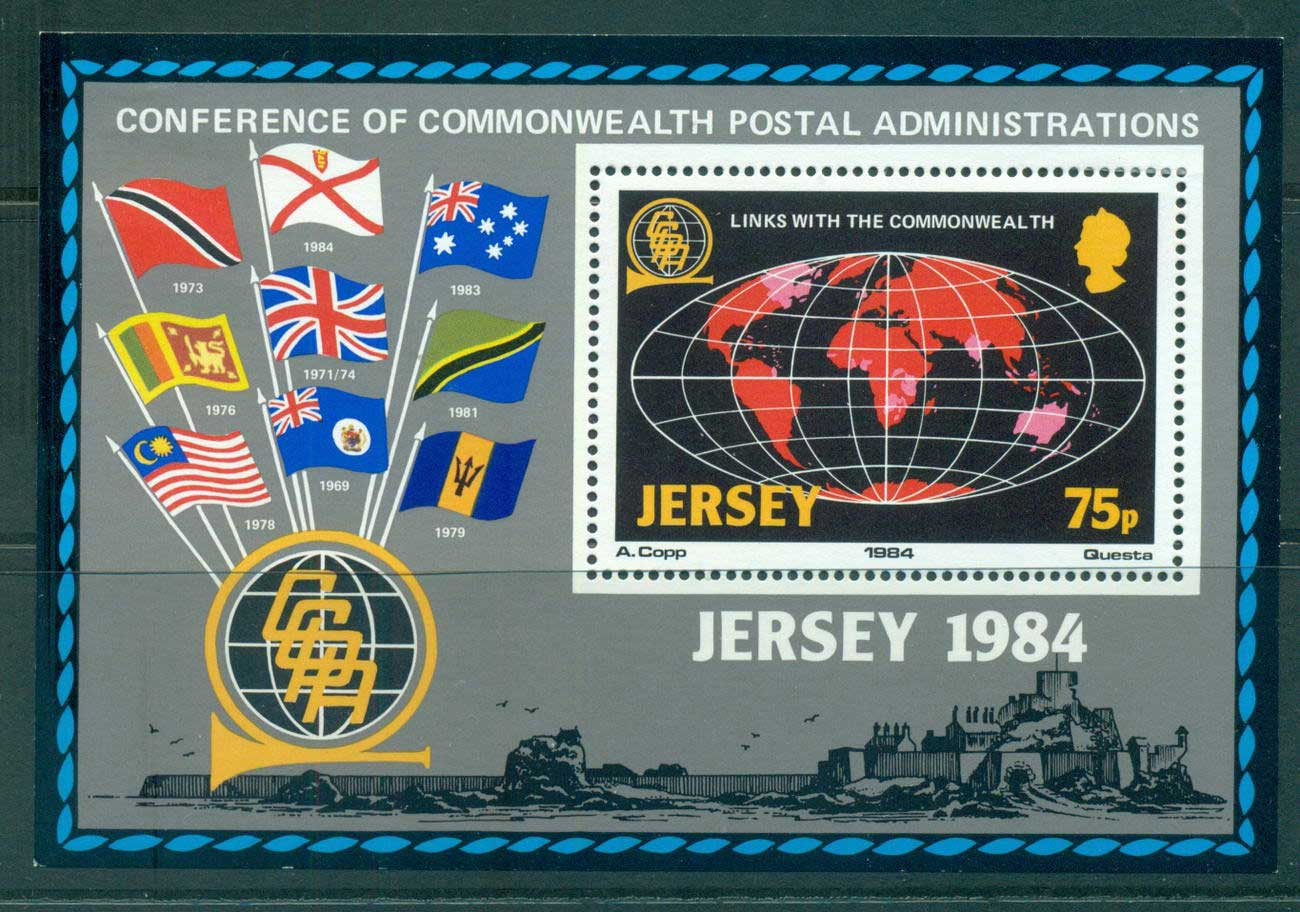 Jersey 1984 Postal Admin. Conf. MS MLH lot54060