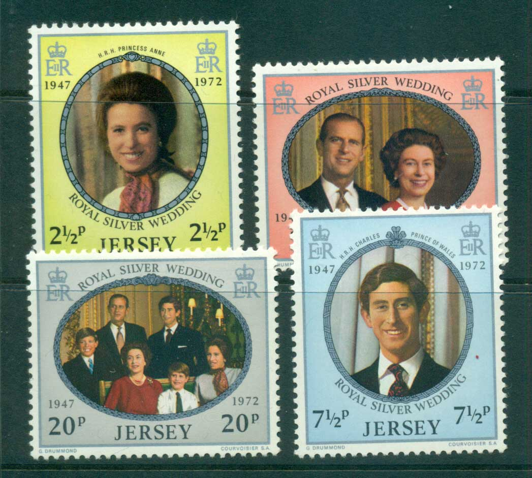 Jersey 1972 QEII 25th Wedding Anniv. MLH lot54064
