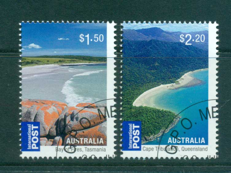 Australia 2010 Beaches Internationals $1.50, $2.20 CTO, lot54222