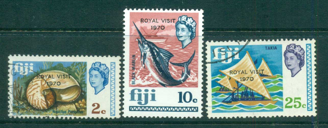 Fiji 1970 Royal Visit U lot54301