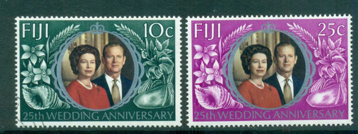 Fiji 1972 Silver Wedding MLH lot54310
