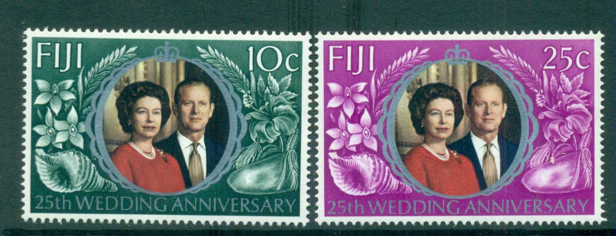 Fiji 1972 Silver Wedding MUH lot54311