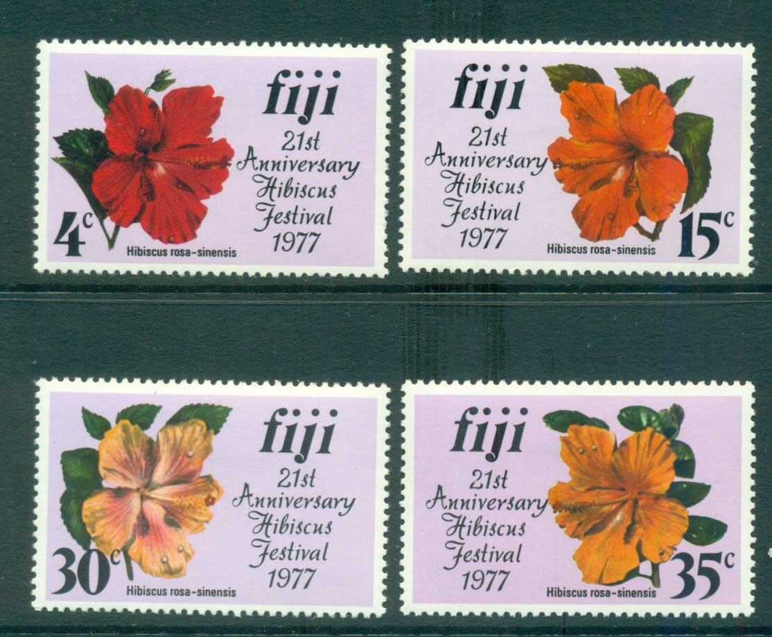 Fiji 1977 Hibiscus Festival MLH lot54342