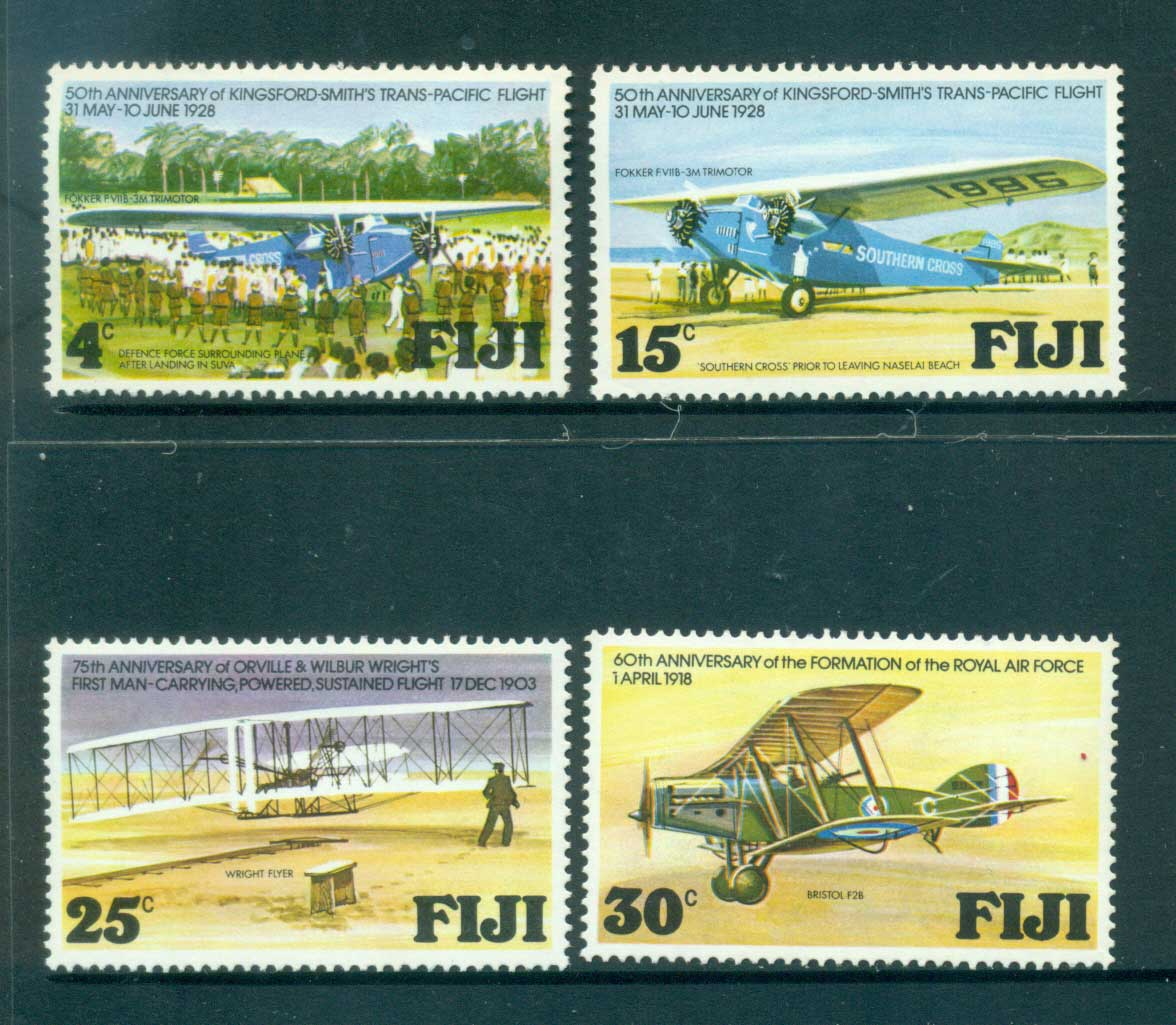 Fiji 1978 Flight Anniversaries MUH lot54346