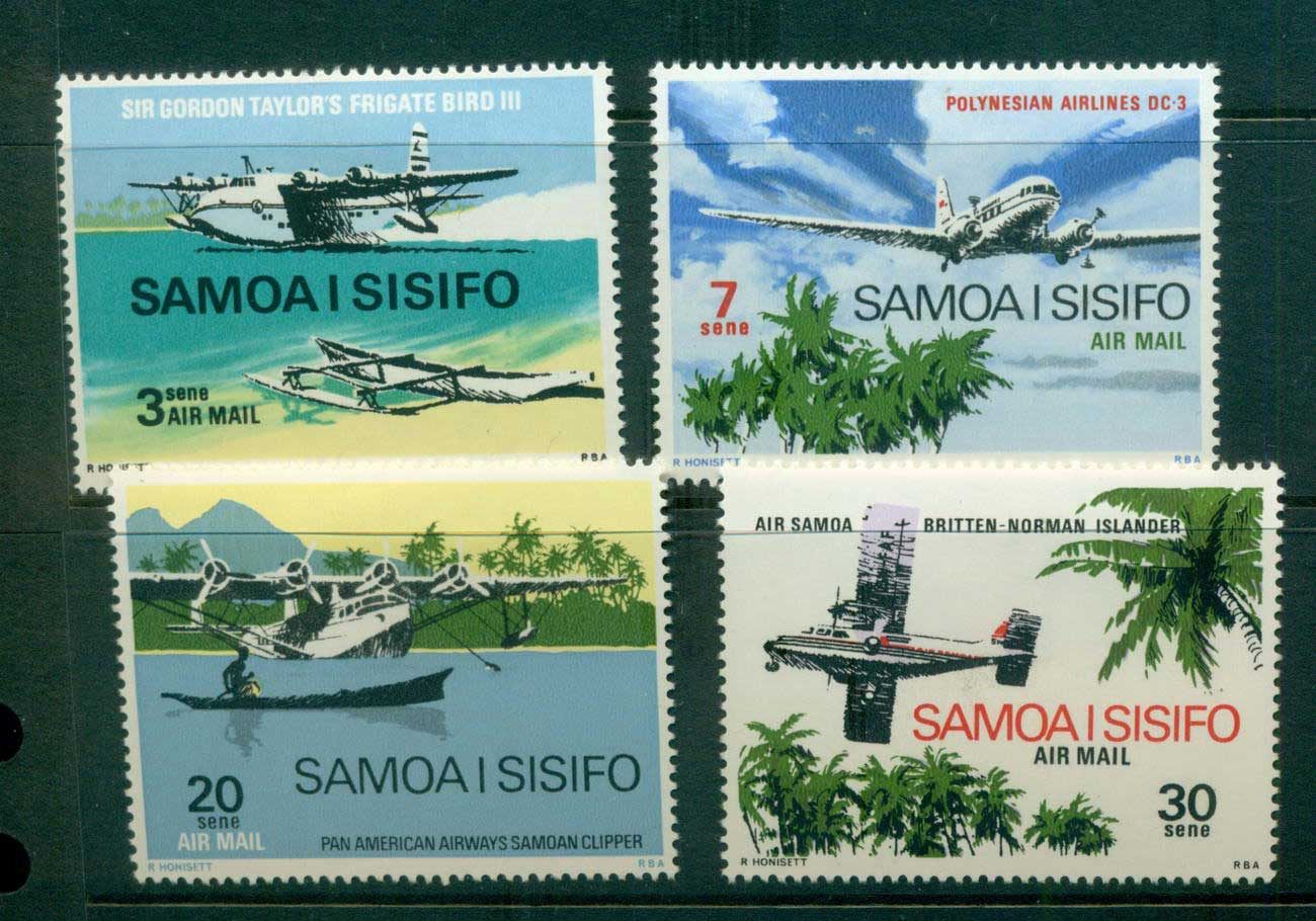 Samoa 1970 Air Mail, Planes MLH lot54719