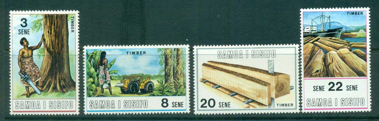 Samoa 1970 Timber Industry Development MLH lot54723