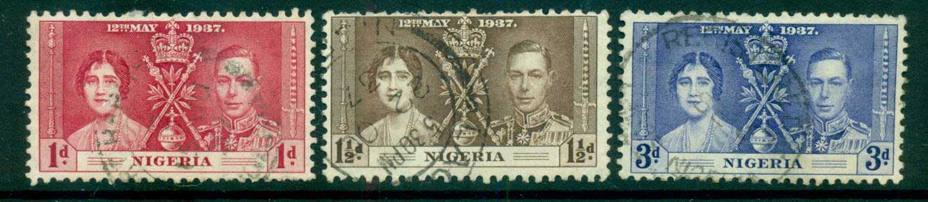 Nigeria 1937 Coronation FU lot54954