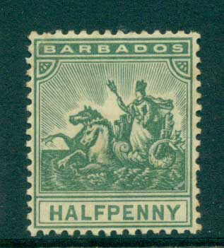 Barbados 1896 1.2d green MH lot55024