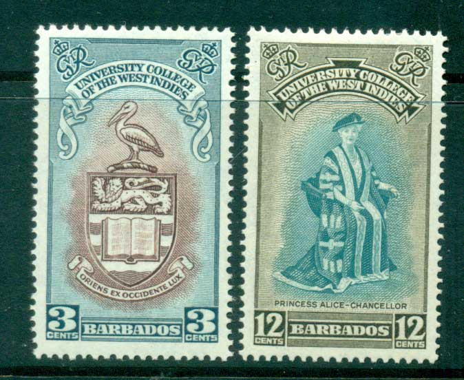 Barbados 1951 University of the West Indies MLH lot55052