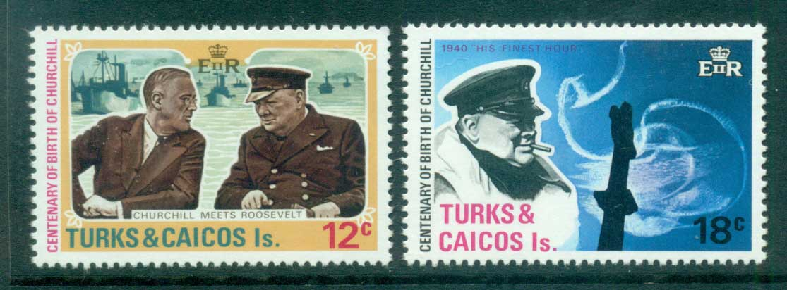 Turks & Caicos Is 1974 Churchill MUH Lot55116