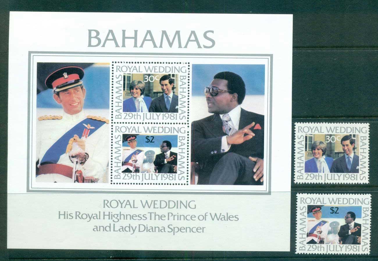 Bahamas 1981 Charles & Diana Wedding + MS MUH Lot55218