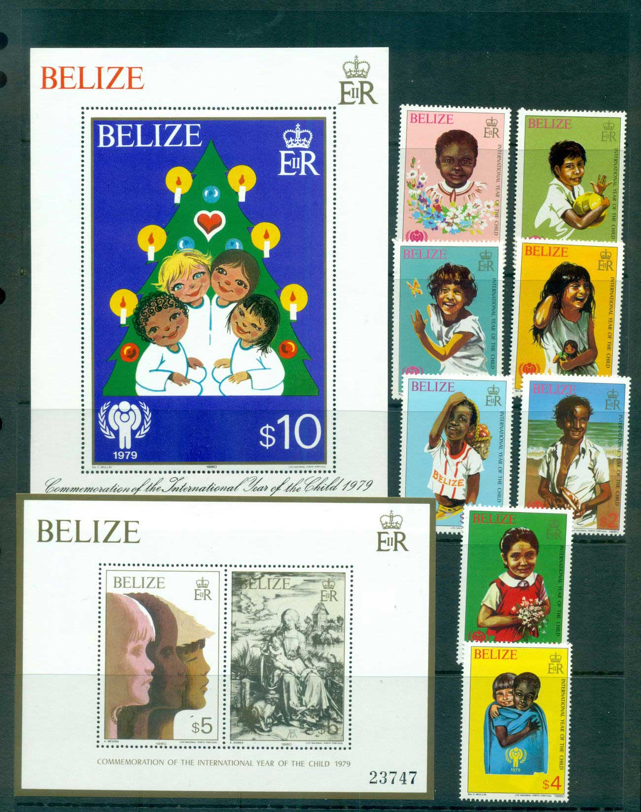 Belize 1979 IYC International year of the Child + 2x MS MUH Lot55244