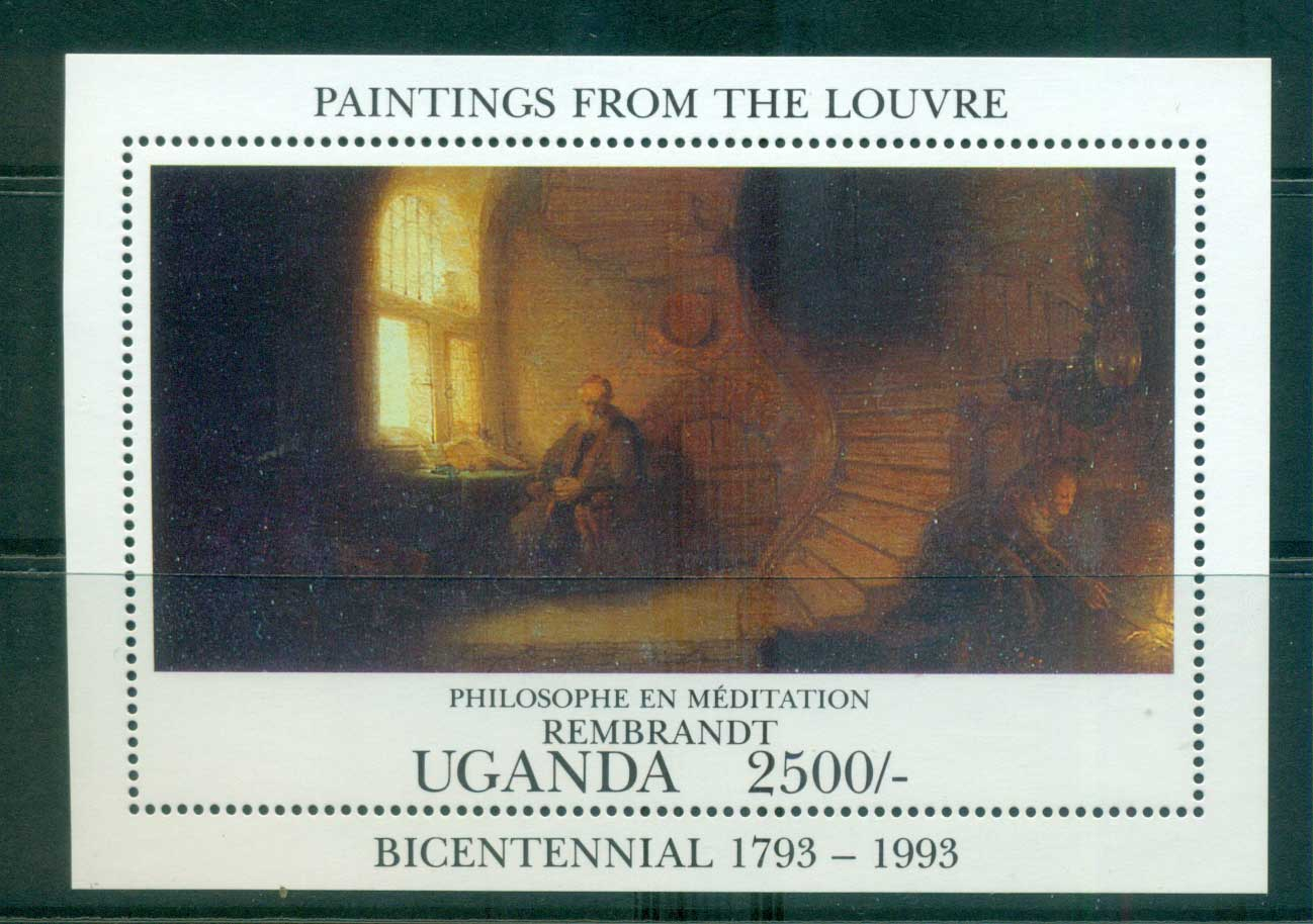 Uganda 1993 Paintings from the Louvre, Rembrandt MS MUH Lot55280
