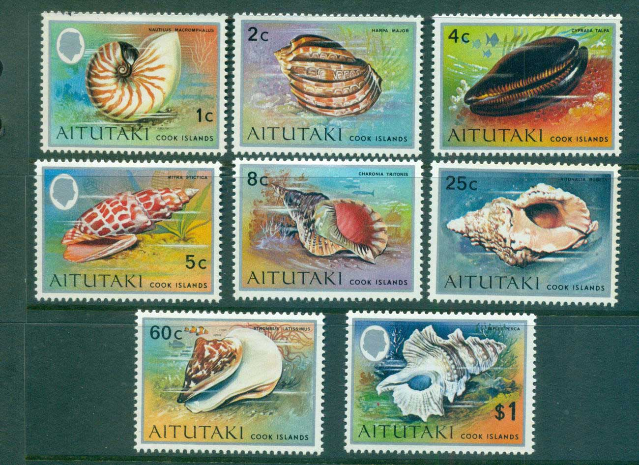 Aitutaki 1974-75 Shells asst MLH Lot55318