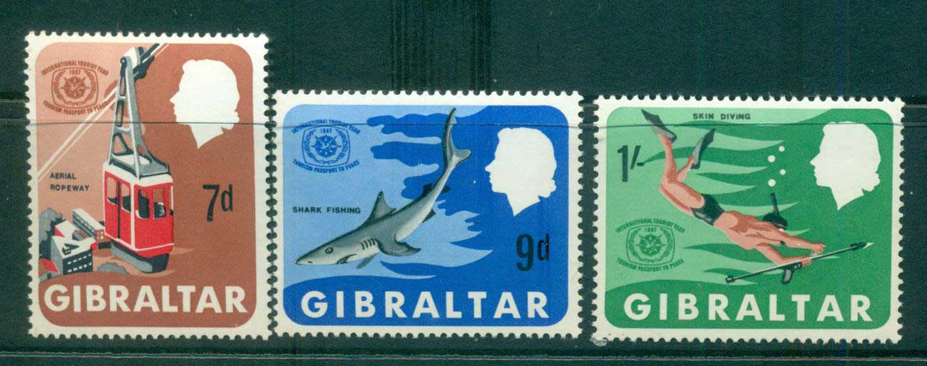 Gibraltar 1967 International Tourist year MUH Lot55368