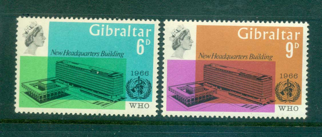 Gibraltar 1966 WHO headquarters MUH Lot55375