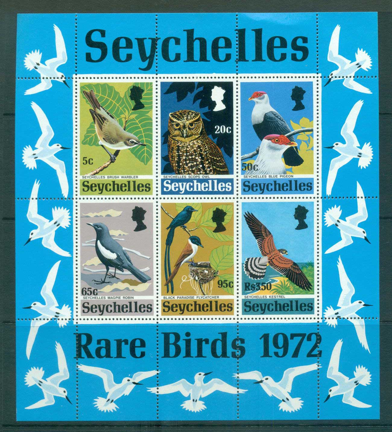 Seychelles 1972 Birds MS MUH Lot55388