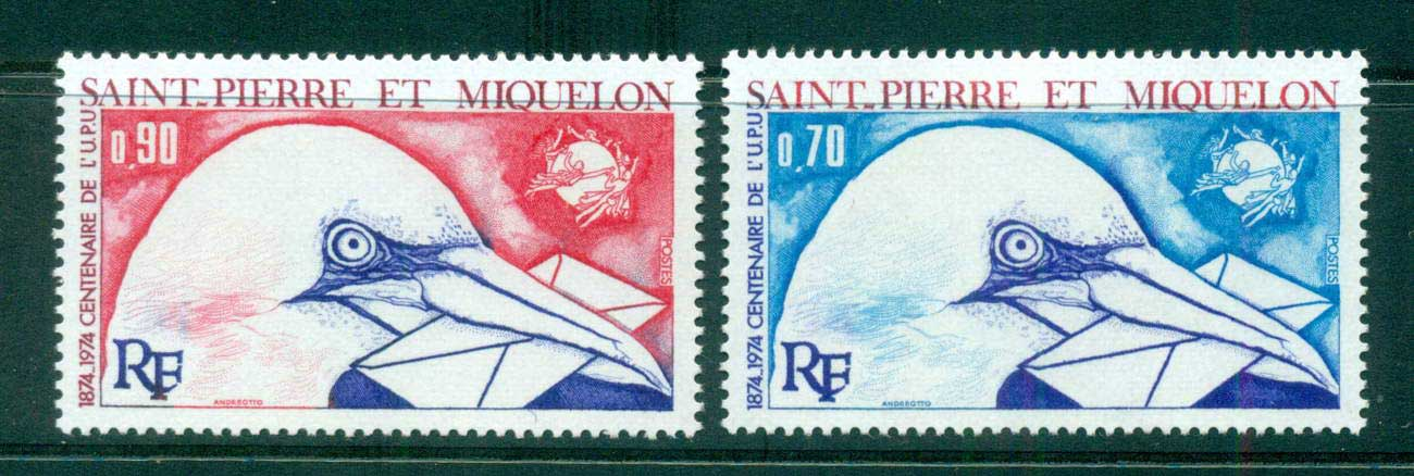 St Pierre & Miquelon 1974 UPU Centenary MUH lot56520