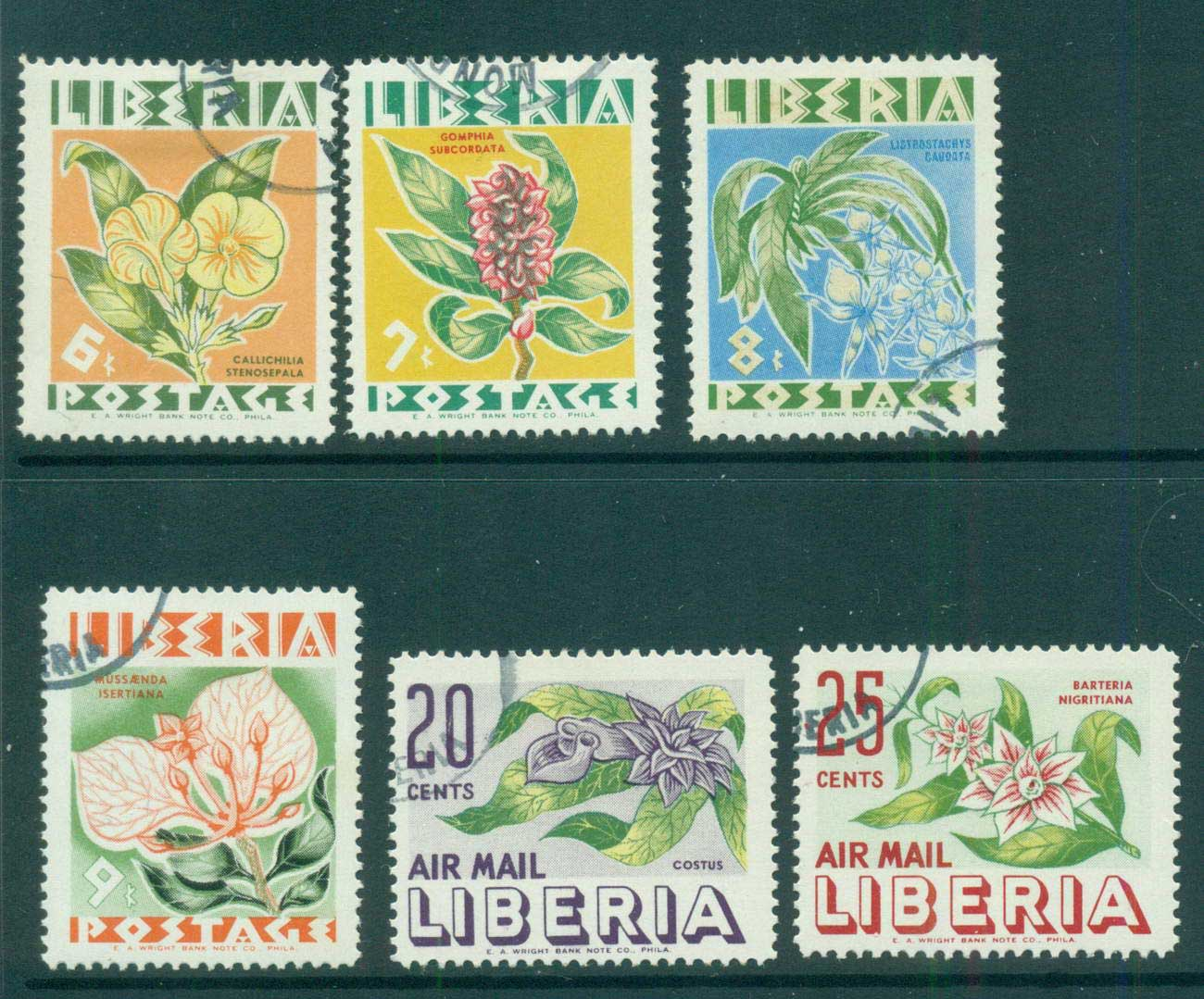 Liberia 1955 Native Flowers CTO lot56698