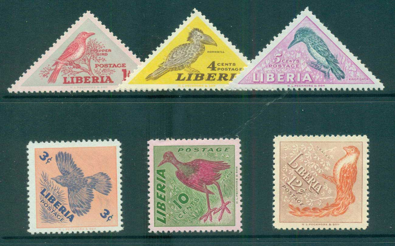 Liberia 1953 Birds MLH lot56699