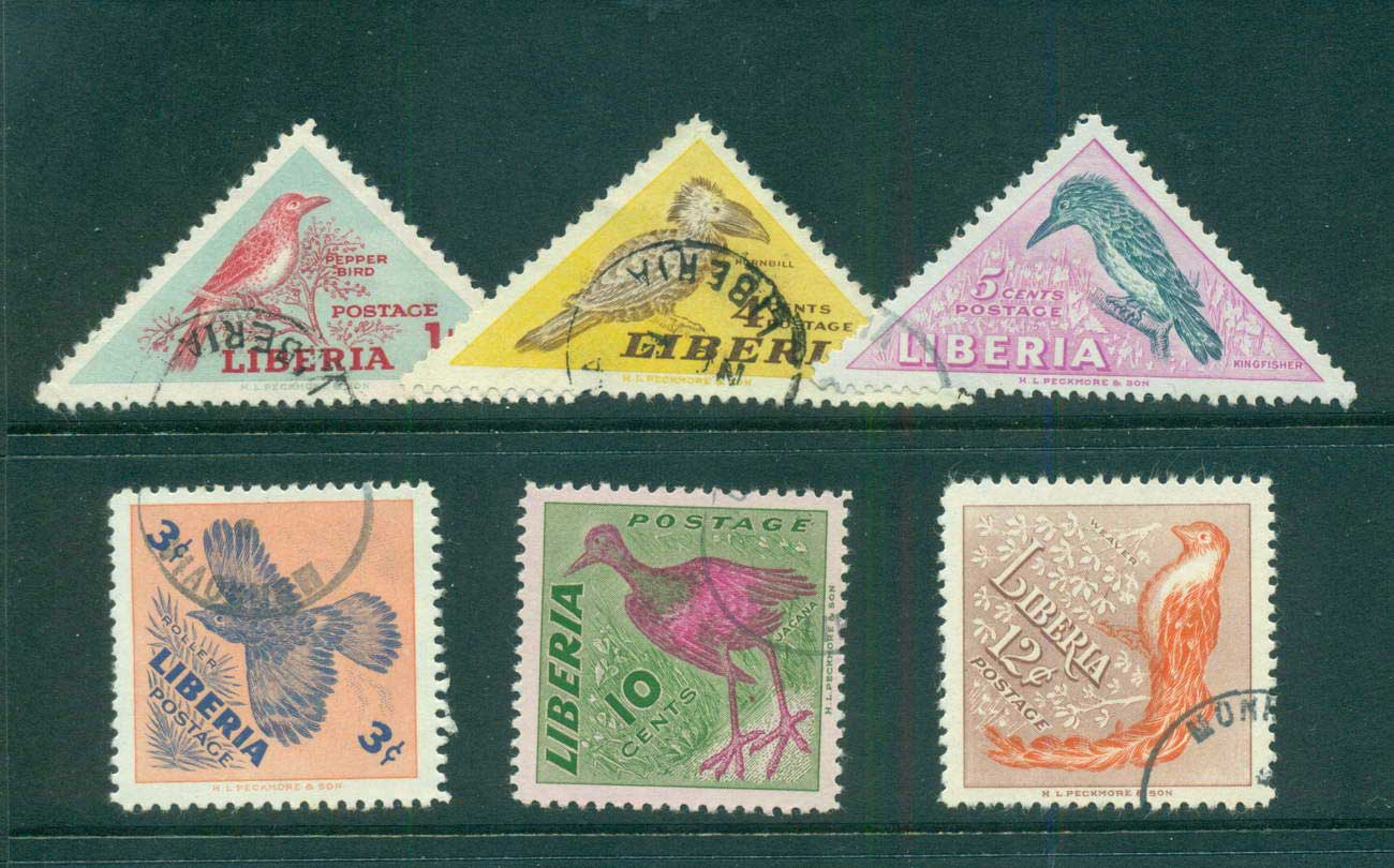 Liberia 1953 Birds CTO lot56700