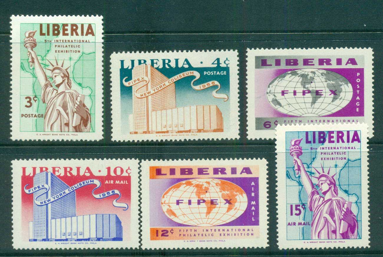 Liberia 1956 FIPEX New York lot56701