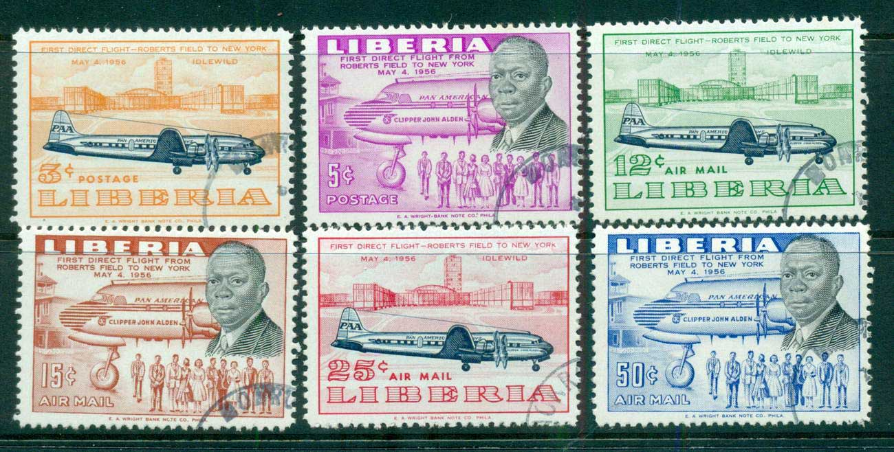 Liberia 1957 Air Service To Kennedy NY CTO lot56705