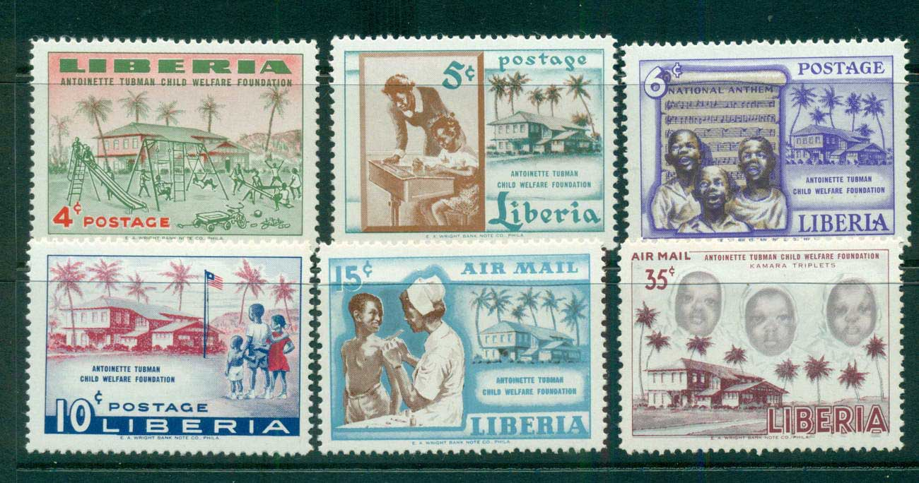 Liberia 1957 Child Welfare MLH lot56706