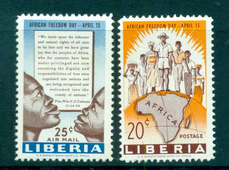 Liberia 1959 African Freedom day MLH lot56711