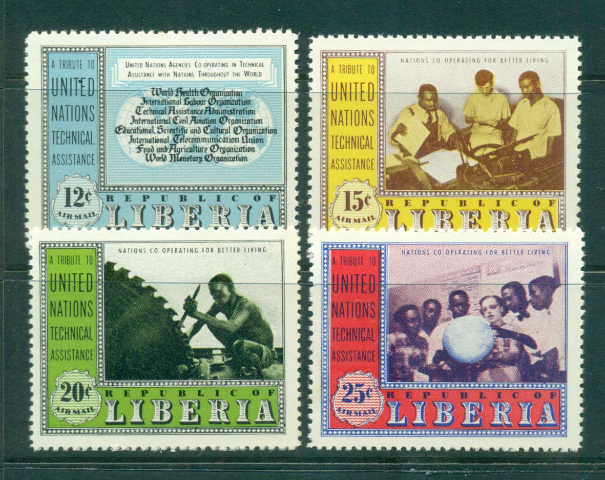 Liberia 1954 UN technical Assistance MLH Lot56816