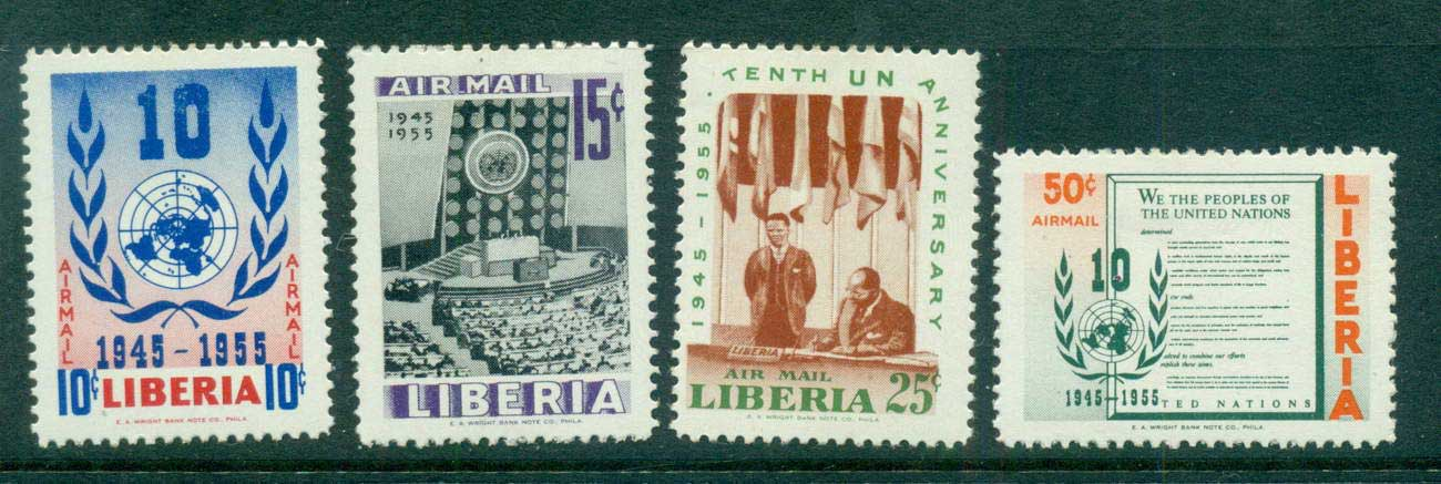 Liberia 1955 UN 10th Anniv. MLH Lot56820