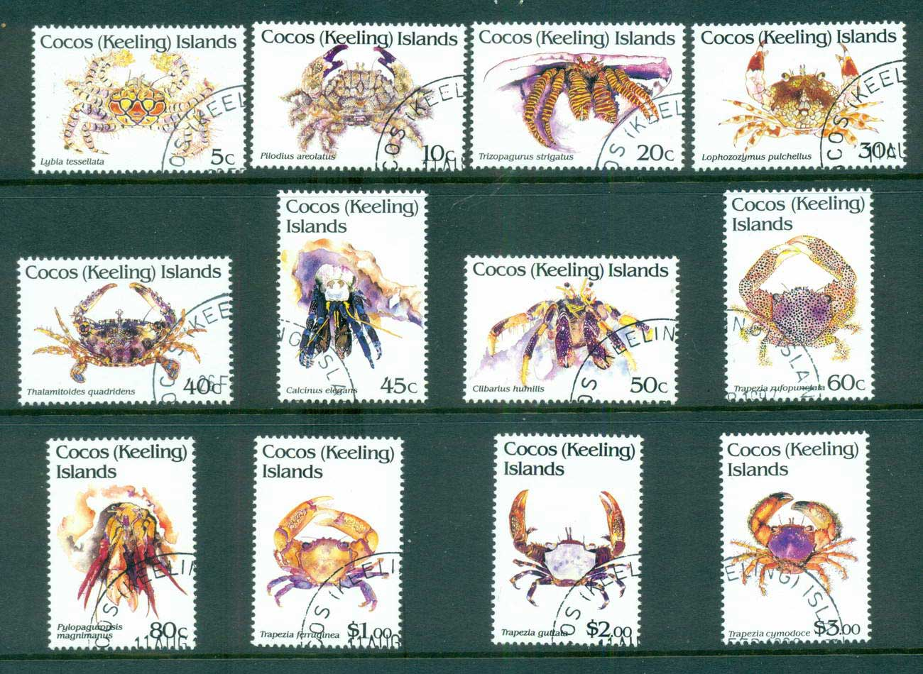 Cocos Keeling Is 1992 Crabs Definitives CTO lot56871