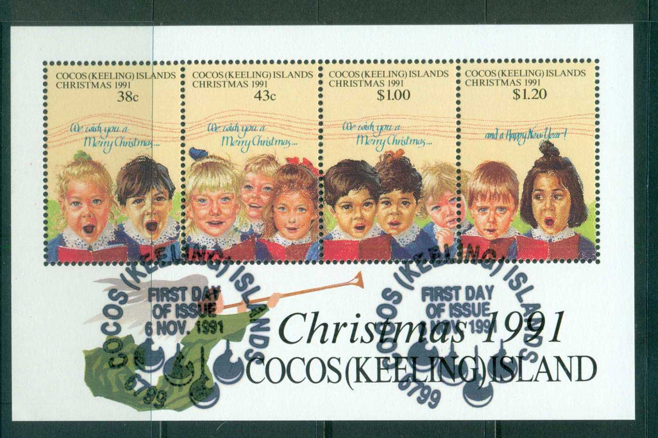Cocos Keeling Is 1991 Xmas MS CTO lot56882