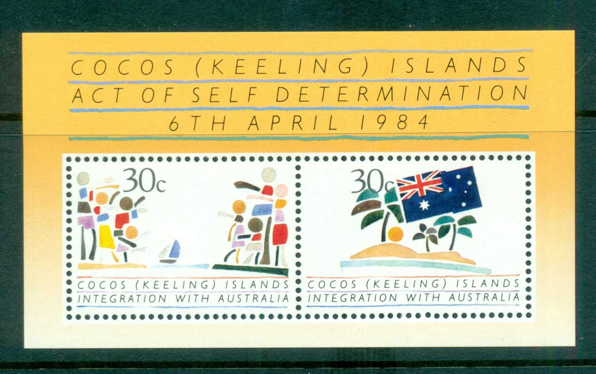 Cocos Keeling Is 1984 Self Determination MS MUH lot56886