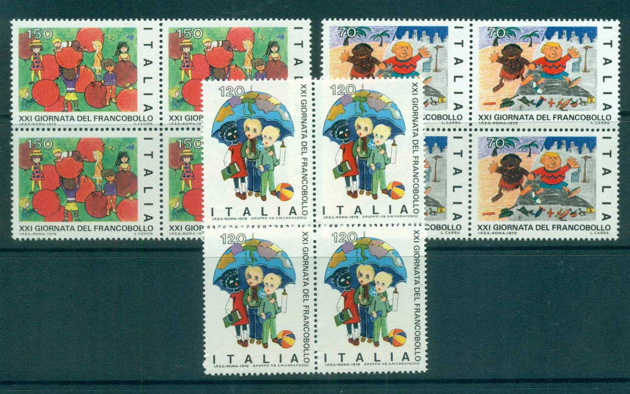 Italy 1979 Stamp day Blks 4 MUH lot57203