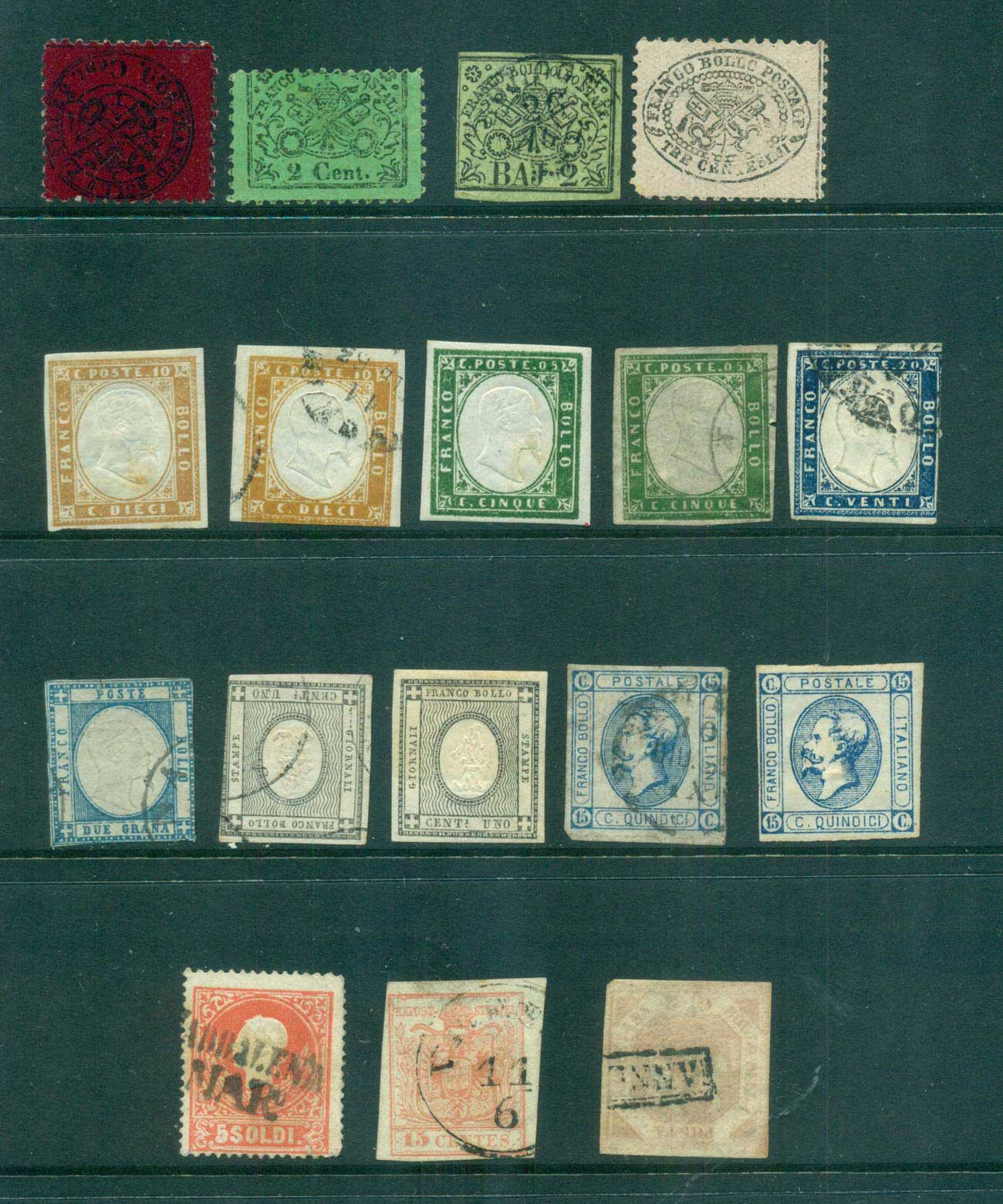 "Italy 1850s on Assorted Oddments, fakes?, Forgeries ? ""As Is"" lot57207"