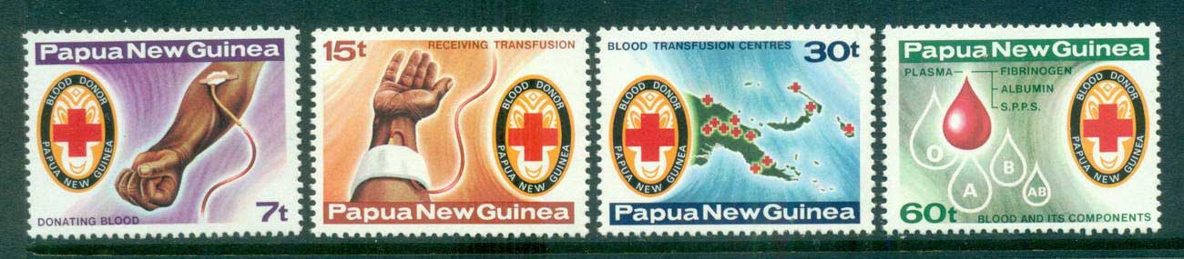 PNG 1980 Red Cross, Blood Transfusion MUH lot57248