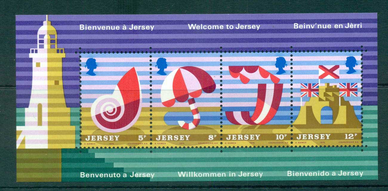 Jersey 1975 Tourist Publicity Posters MS MUH lot57369
