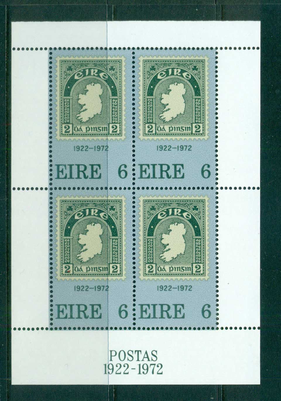 Ireland 1972 Postage Stamp Anniv. MS MUH lot57378
